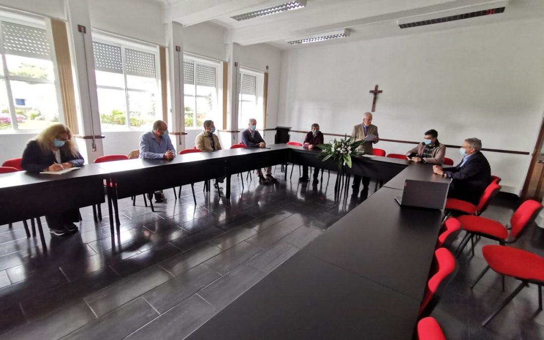 Assembleia Geral para eleição dos Corpos Sociais da URIPSSA para o quadriénio 2021/2024, realizada no dia 20 de fevereiro de 2021 no Auditório do Ramo Grande na cidade da Praia da Vitória.